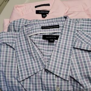 Lands End oxford no iron shirts